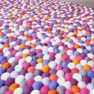 Berry Bliss Felt Ball Rug Sale $279 (from $399) 100cm