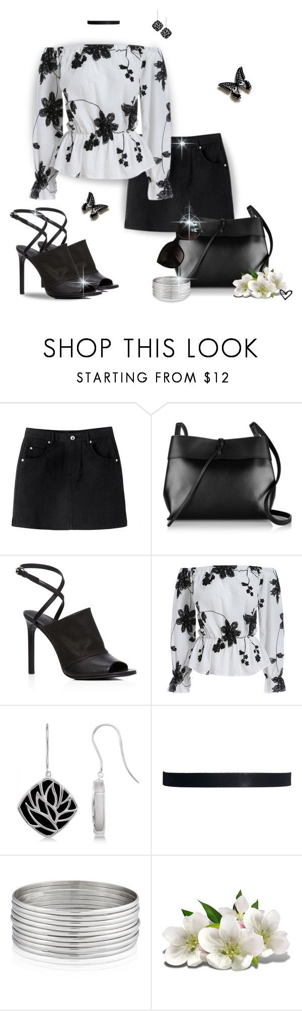 """""""~SheIn~ Black & White Floral Off the Shoulder Blouse ~"""" by justwanderingon ❤ liked on Polyvore featuring Kara, Vince, Allurez, ASOS, West Coast Jewelry, WALL, Chanel, black, MINISKIRT and offtheshoulder"""