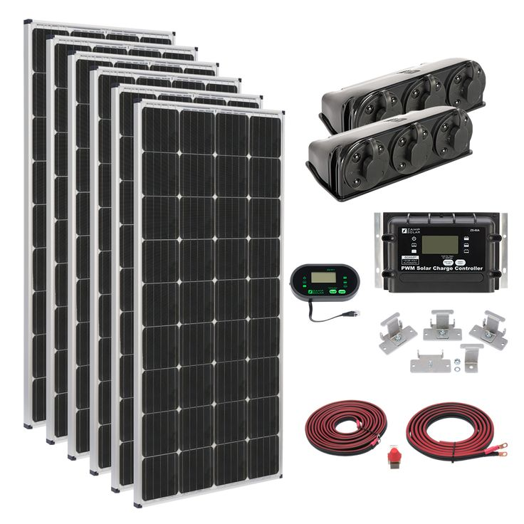 Zamp Solar Deluxe 1020 Watt Solar Kit