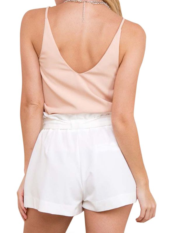76f3929257 Sweetsmile Women Hot Pants Summer Casual Loose Shorts Bow Beach High ...