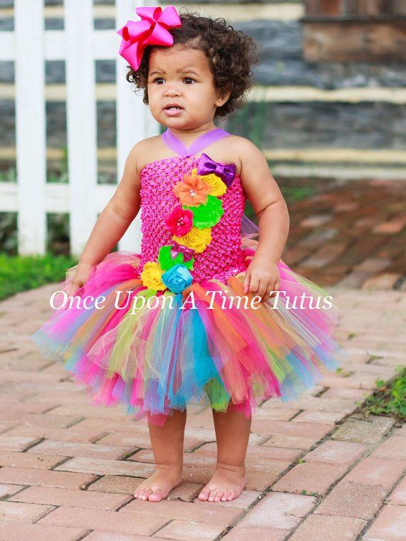 Rainbow Birthday Tutu Dress  Infant Baby by OnceUponATimeTuTus