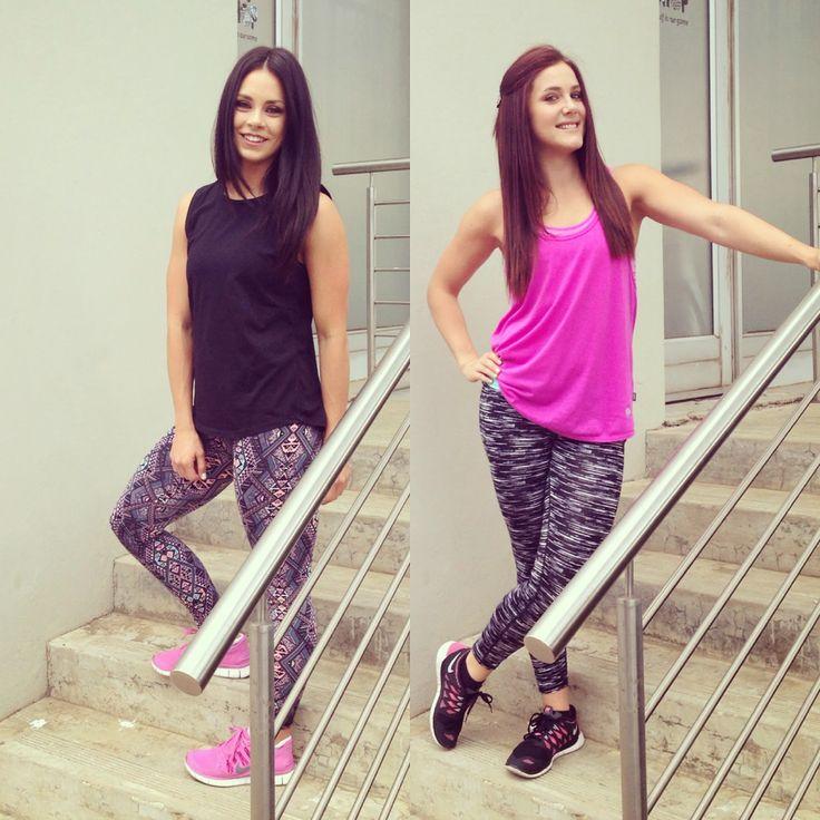 Fitness fashion. Geometric gym tights.