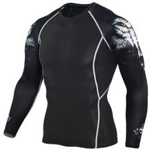 2016 Mens MMA Fitness T Shirts Fashion 3D Teen Wolf Long Sleeve Palace Compression Shirt Bodybuilding Crossfit Brand Clothing //Price: $US $7.64 & FREE Shipping //
