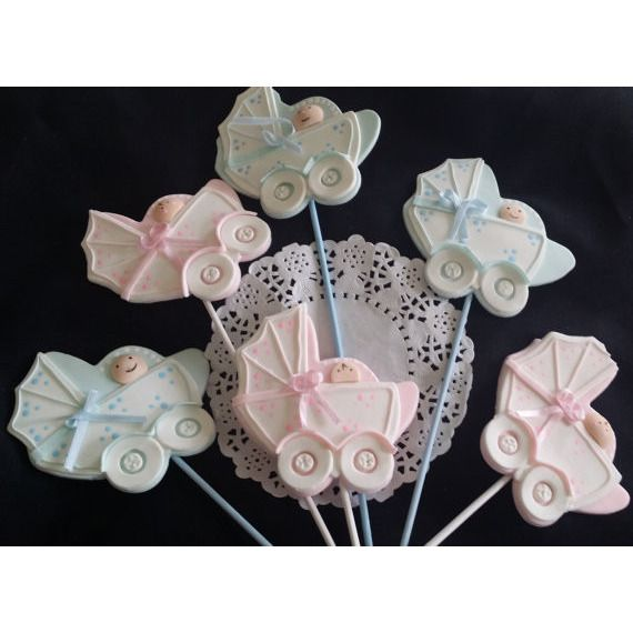 Baby Shower Centerpieces Picks, Baby Carriage Picks in Pink or Blue, Baby Pick for Baby Shower Centerpieces