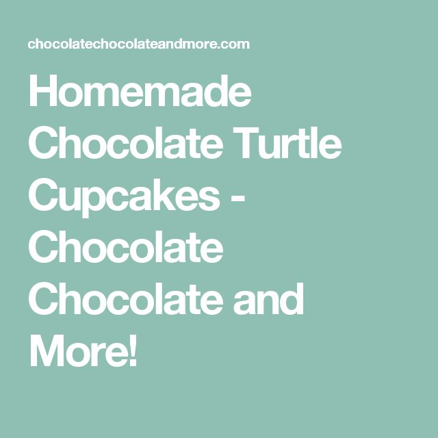 Homemade Chocolate Turtle Cupcakes - Chocolate Chocolate and More!