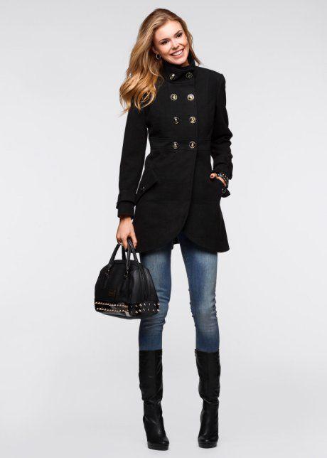 Krátký kabát, RAINBOW, černá