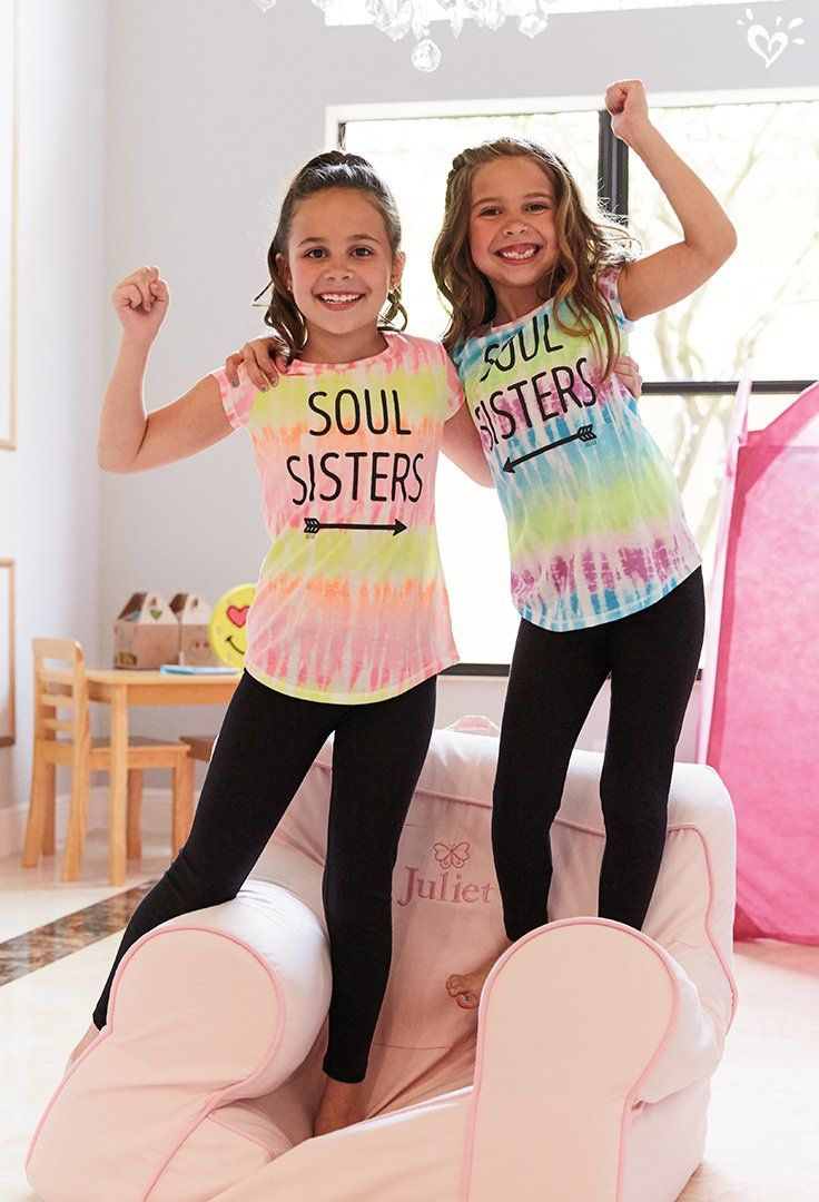 Twinspiration, anyone? Be twin-spired by these graphic tees dipped in colors as bright as bestie smiles.