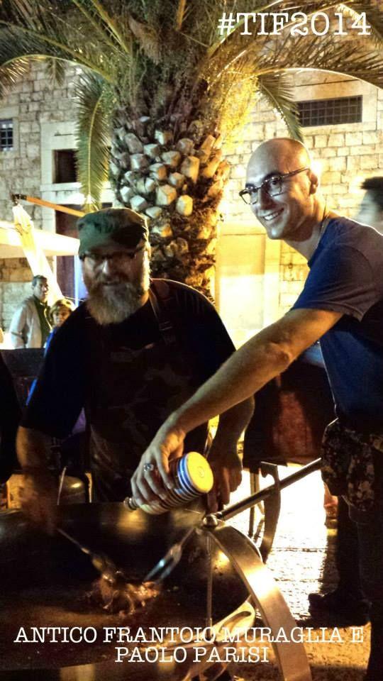 Antico Frantoio Muraglia e lo chef Paolo Parisi #tif #food #trani #frantoiomuraglia #eco #olio #oliva #puglia