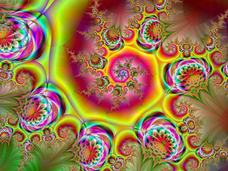 : Psychedelic Gardens Thelma1, Colors, Beautiful, Art Design, Fractals Art, Graphics, Fractalart, Earth, Trippy