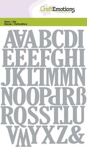 Wykrojnik CraftEmotions -  Uppercase Alphabet