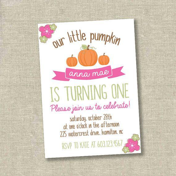 Little pumpkin invitation little pumpkin first by SweetfaceInk
