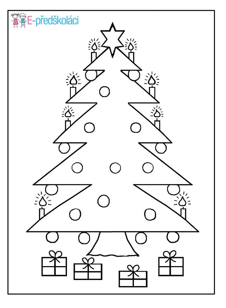 Vánoční stromeček - omalovánka