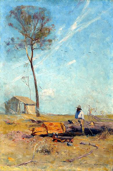 The selector, Mount St Quentin by  Sir Arthur Streeton