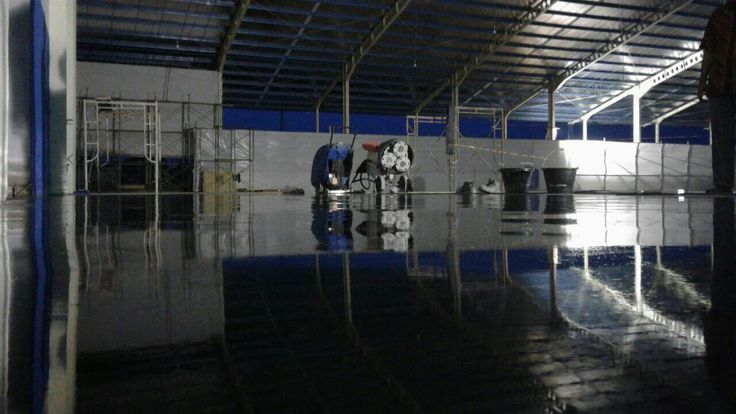 Late night reflection floor Teknoklinz Indonesia Polished Concrete Expert