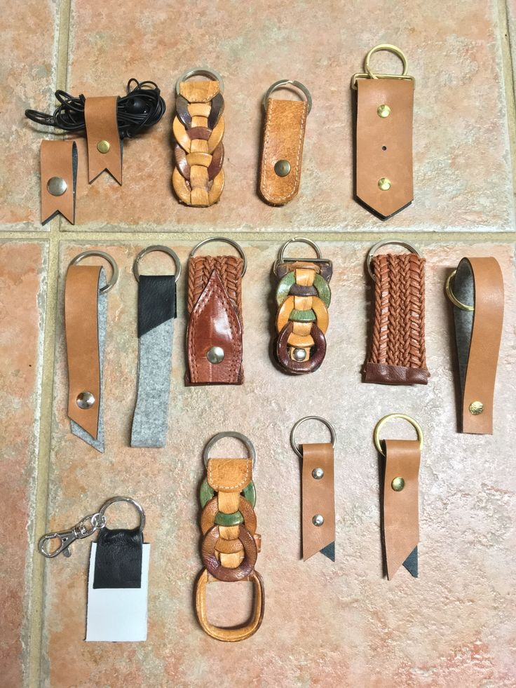 Leather Key Chains  by Junie8ug