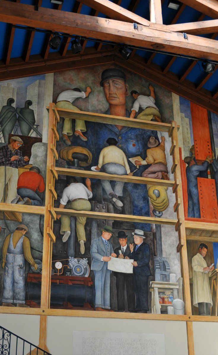 88 best images about colorful sf murals on pinterest for Diego rivera mural san francisco
