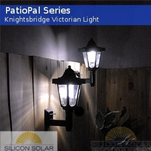 Great Solar Patio Lanterns | Knightsbridge Victorian Solar Wall Mounted Lights  Set 4 Patiopal Sm .