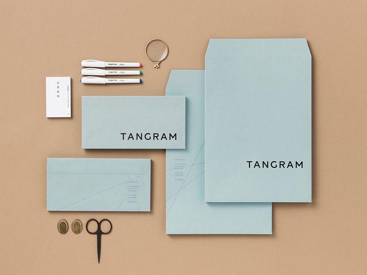 Unique Branding Design, Tangram via @groeger_c