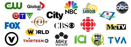 Canaux de Télévision qui diffusent les signaux en numériques TV HD gratuitement au Québec.
