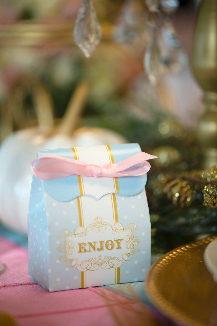 Favor Box from a Princess Cinderella Themed Birthday Party via Kara's Party Ideas | KarasPartyIdeas.com (38)