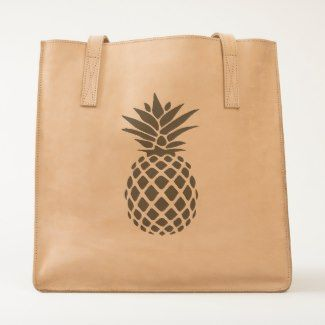 Pineapple Leather Tote Bag