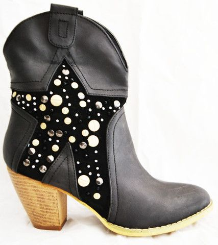 Black Star Ankle Boot - Black