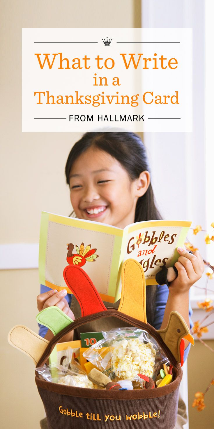 What to Write in a Thanksgiving Card from Hallmark | Send warm Thanksgiving wishes with these message ideas and writing tips from Hallmark.