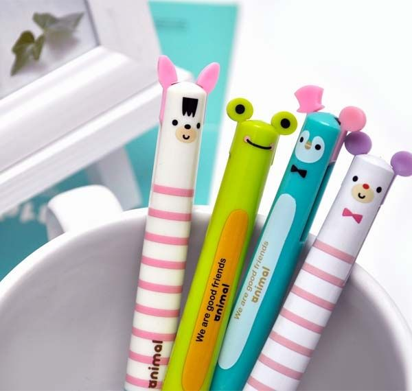 Ballpoint Pens - Playful Ears Ballpoint Pen Duo | CoolPencilCase.com 3.25 20and up free shipping