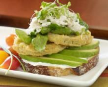 Fresh Avocado and Fried Green Tomato Sandwich
