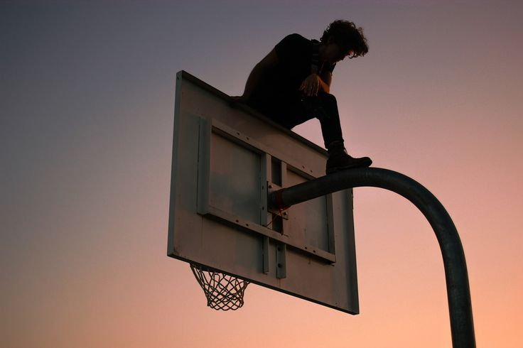 Basketball hoops are such a huge symbol for masculinity for me..not really sure why.