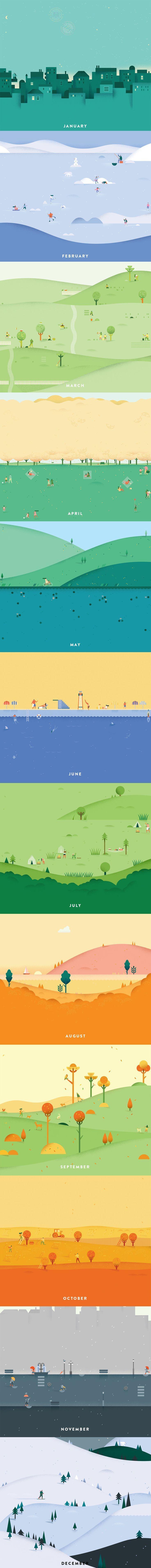 Google calendar illustrations