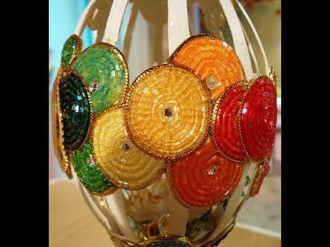 Como hacer beading - Arte Realeggza - Reloj de colores - YouTube