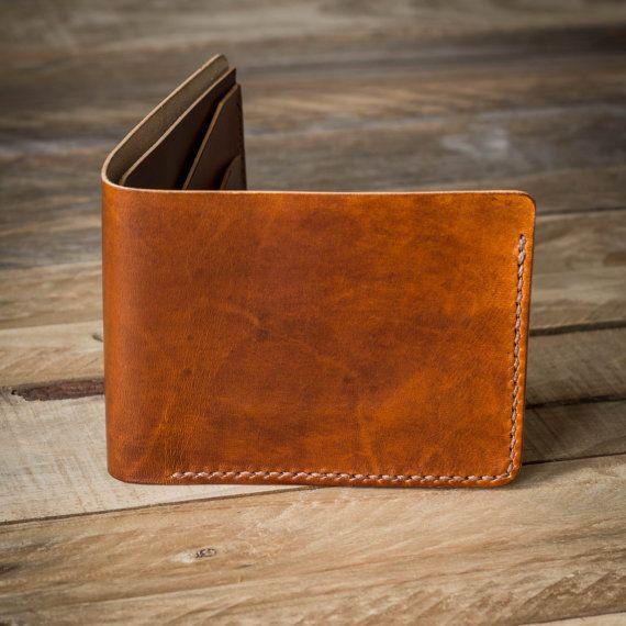 Cuir porte monnaie portefeuille portefeuille par ColvilleLeather