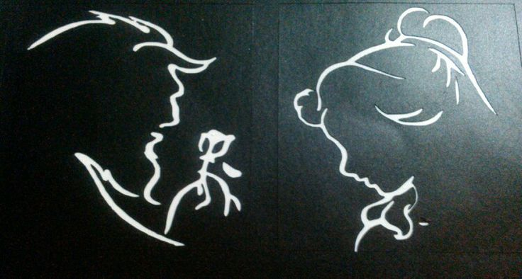Beauty and the Beast face outline | DIY/Crafts | Pinterest