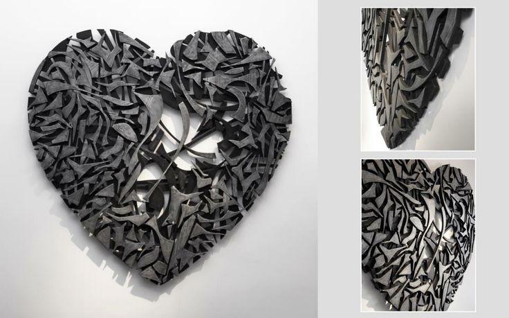 Un'opera di #FabioMasotti è sempre il frutto di una ricerca approfondita ed appassionata sull #artdesign. Ecco un'immagine di un #Cuore che ci consente di apprezzare, da diverse angolazioni, il lavoro dell'artista.