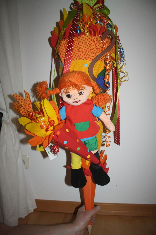XXL Schultüte / Zuckertüte Pippi Langstrumpf Puppe Figur Neu & Handarbeit…