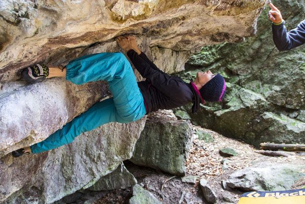 Im unteren Sektor überwiegt kräftige Kletterei - ©Frieda Knorke