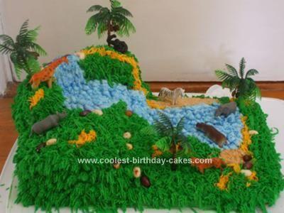 The 25 best DIY jungle birthday cake ideas on Pinterest Jungle