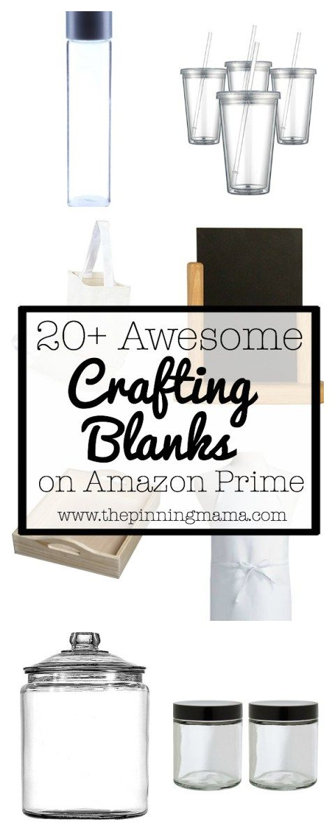 Awesome Crafting Blanks You Can Get on Amazon Prime| www.thepinningmama.com