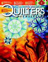 December 2010/January 2011. Cover quilt -- Fire and Ice by Claudia Pfeil: 2010 January 2011, Fire And Ice, Inside Quilter, Connection Thread, December 2010 January, Covers Quilts, Art Quilts, Claudia Pfeil, Inspiration Quilts