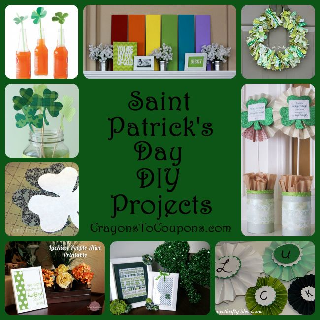 Collection of frugal St. Patrick's Day DIY projects & Decor Ideas!