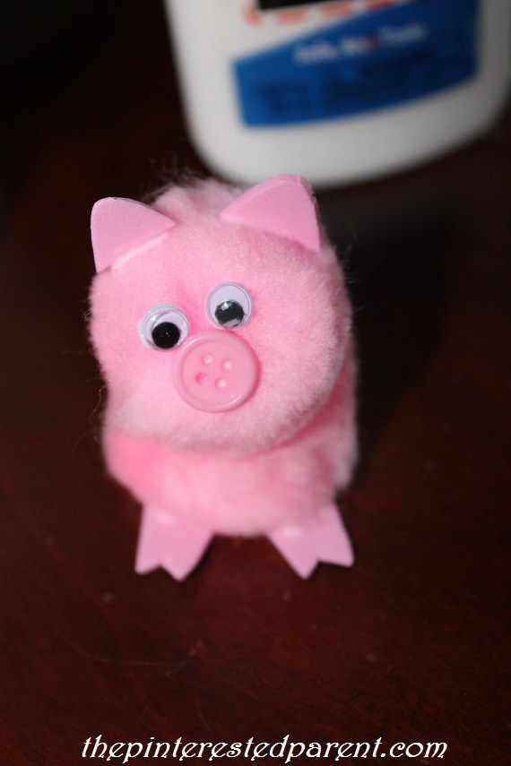 Pom Pom Pig Craft | The Pinterested Parent