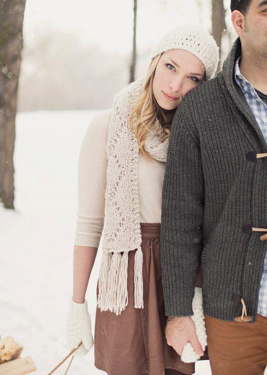 Mooie muts, sjaal en handschoenen.