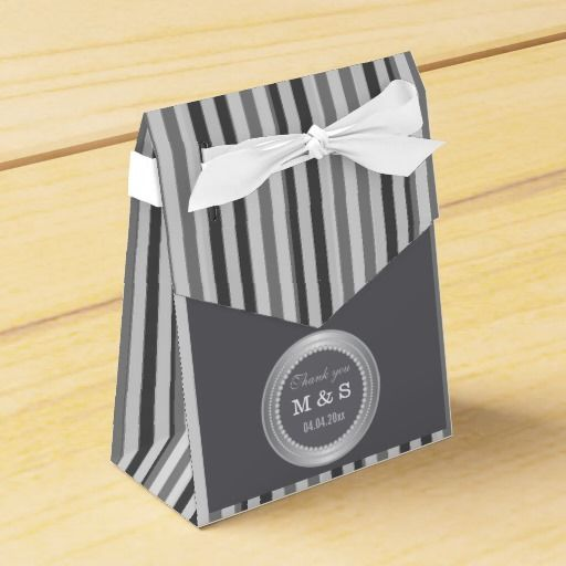 A stylish  and trendy monogrammed favor box to make a memorable gift for your special occasions.Add a modern look to your personalised #wedding monogram favor boxes with a stripes pattern in the background. Personalize with your #monogram and wedding date.