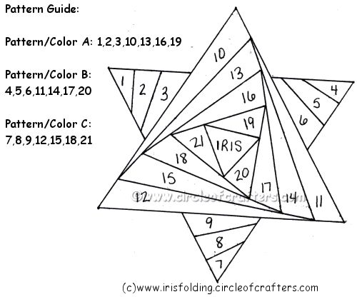 Free Iris Paper Folding Patterns | Iris Folding @ CircleOfCrafters.com: Free Star of David Pattern