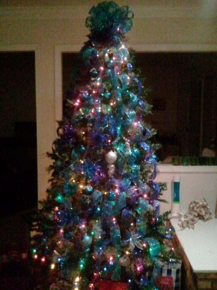 Teal Christmas Tree