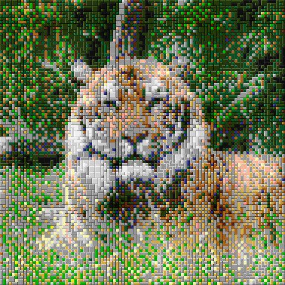out dieren tijger ministeck voorbeeld