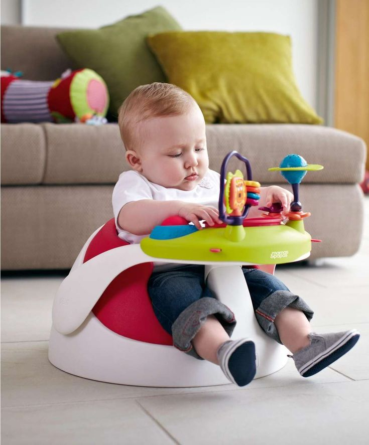 - Soft and comfortable, designed to keep baby snug and in place - Removable tray aids play times and meal times - Lightweight for easy transportation - Easy to clean - Crotch post for added safety