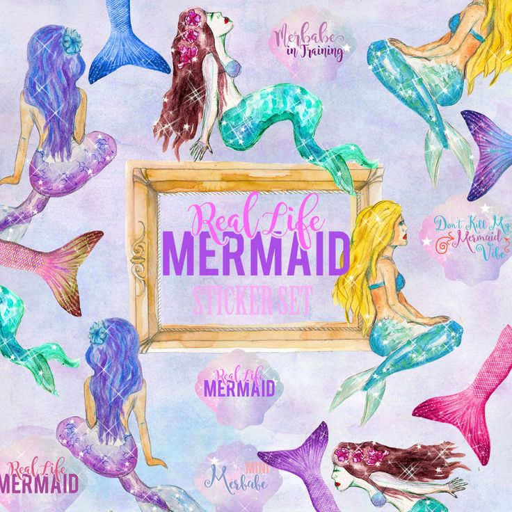 Mermaid Life Stickers,Mermaid Planner stickers,Journal Note Card Decor Scrapbook in Crafts, Scrapbooking & Paper Crafts, Scrapbooking | eBay!