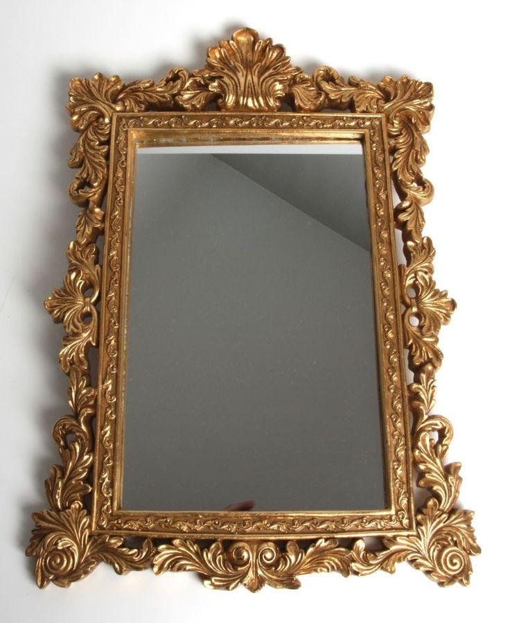 Prunkspiegel schöner Barock-Stil Spiegel, Gold,  36 x52 cm #SH